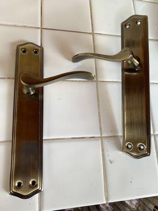 Juego de 2 manillas de puertas