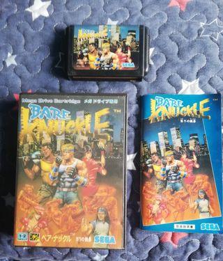 Mega Drive Bare Knuckle Completo JAP