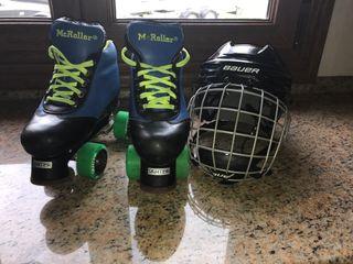 Patines y casco hockey