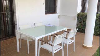 Conjunto jardín mesa y 6 sillas de jardín
