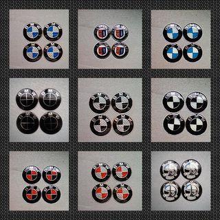Pegatinas centro rueda Tapabujes logo BMW 64mm