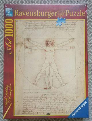Puzzle 1000 Hombre de Vitrubio, Leonardo da Vinci
