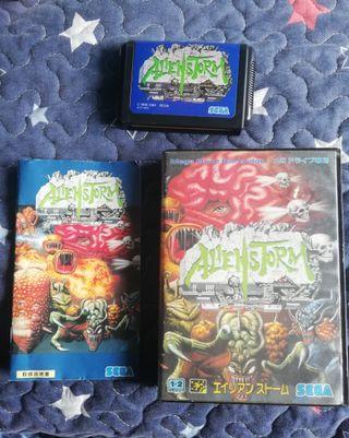 Mega Drive Alien Storm Completo JAP