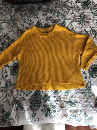 Jersey de lana mostaza