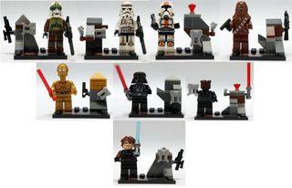 8 Figs de Star Wars 100x100 compatible con Lego