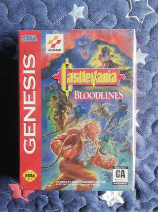 Mega Drive Castlevania Bloodlines PRECINTADO Genes