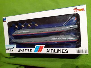 Maqueta avión United Airlines
