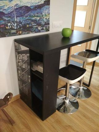 Barra mesa de cocina con taburetes