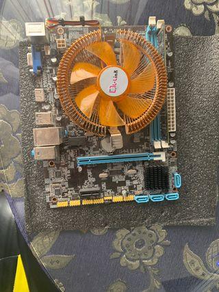 Placa base +memoria RAM+ procesador+embellecedor