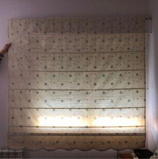 Estor/cortina blanco crema diseño a medida