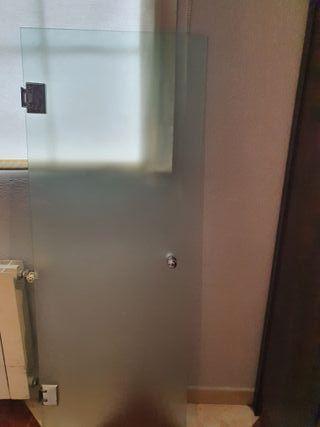 Puerta de ducha de cristal templado