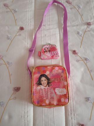 bolso y monedero de niña