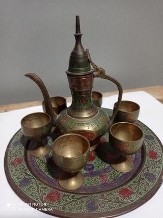 MINi TETERA plato bandeja y copas vaso arabes