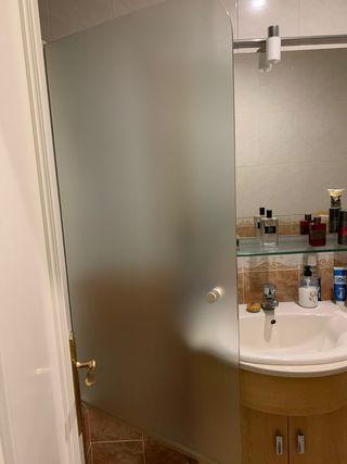 mampara de baño de cristal