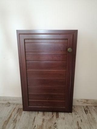 puerta aluminio color madera