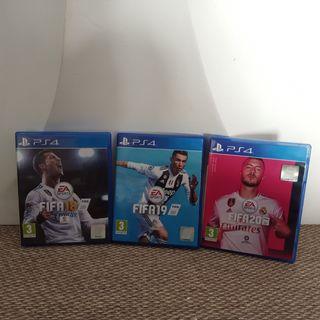 3 juegos FIFA PlayStation 4, FIFA18 FIFA19 FIFA20