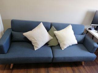 Sofá cama nórdico azul 3 plazas nuevo
