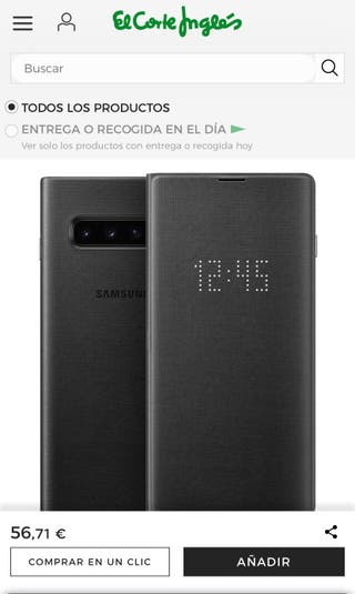 Funda led cover Samsung Galaxy S10 plus