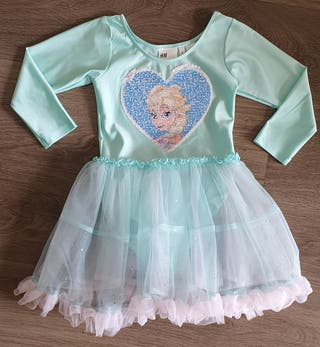 Maillot niña con falda de tul Frozen. SEMINUEVO!