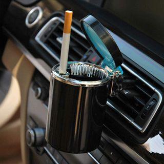 Cenicero de luz LED con Tapas para coche soporte