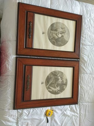 pareja de cuadros 43x60 (ambos)