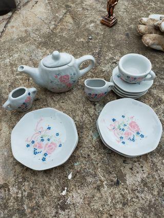 juego de té porcelana miniatura antiguo