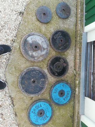 discos gimnasio de hierro