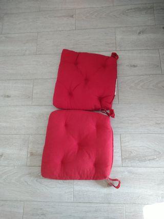 2 cojines para sillas Ikea