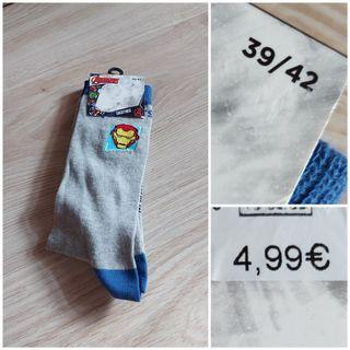 NUEVO, calcetines de los vengadores t 39-42
