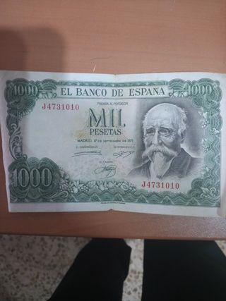 vendo billete de 1000 pesetas