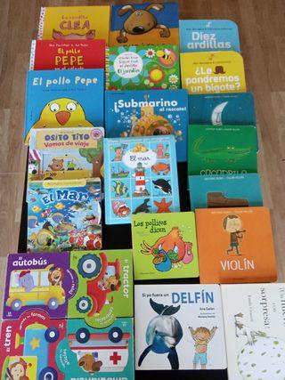 Lote 22 libros bebé/infantiles