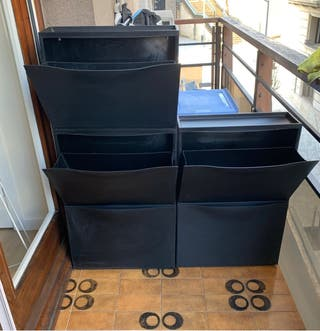 Zapatera Ikea apilable Trones negro