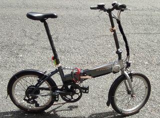 Bicicleta eléctrica plegable btwin hoptown 500 24v