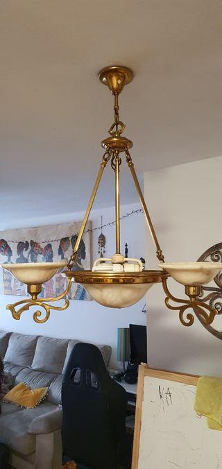 lámpara alabastro craquelado de diseño modernista