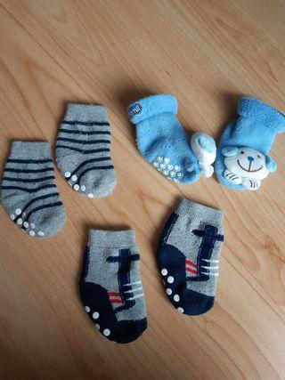 Lote calcetines antideslizantes bebé