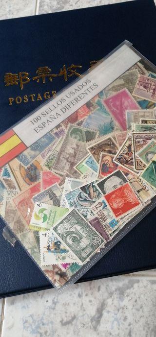 Lote 100 sellos usados de España