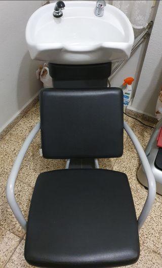 sillón lavacabezas peluquería