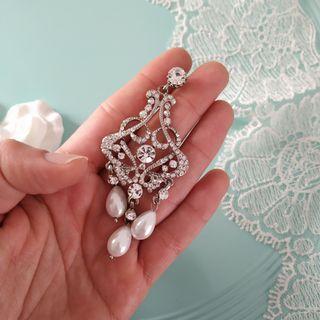 Pendientes de novia estilo Vintage , joya , boda