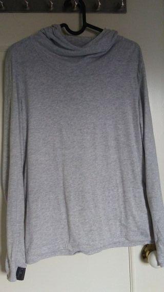 Camiseta manga larga con capucha talla L (domyos)