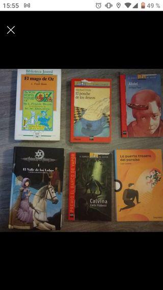 Lote de 6 libros juveniles