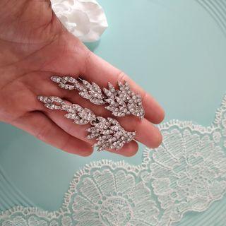 Pendientes de novia en forma alas joya boda fiesta