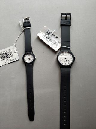 Pareja de relojes Casio hombre y mujer