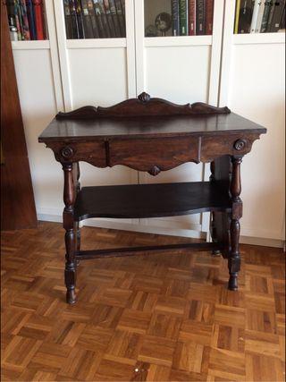 Mesita mueble recibidor vintage