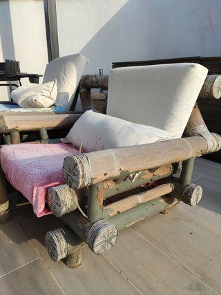 conjunto bambú para restaurar