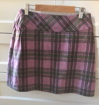 Falda lana cuadros escoceses M