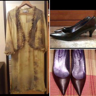 Vestido fiesta (con chaqueta) + zapatos