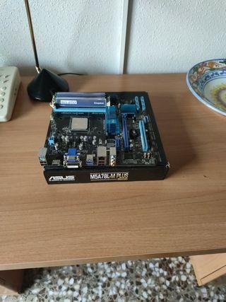 Combo placa base + Procesador + 12 GB de RAM