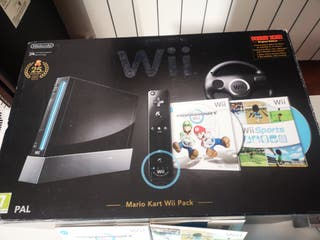 Wii completa con 2 mandos de cada ideal para poder