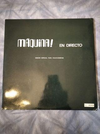 disco vinilo LP maquina en directo