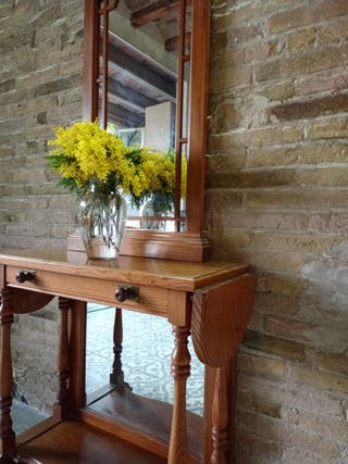 Mueble recibidor/tocador con espejo